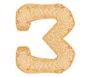 Номер хлеба изолята стоковые изображения rf