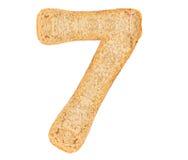 Номер хлеба изолята стоковая фотография