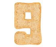 Номер хлеба изолята стоковые фотографии rf