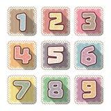 Номер шьет плоский значок для ребенк Стоковые Фото