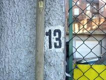 номер 13 незадачливый Стоковое Изображение