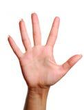 номер 5 жестов Стоковые Фото