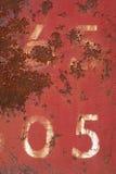 номер 5 ржавый Стоковое Изображение RF