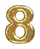 номер 8 купелей золотистый Стоковое Изображение