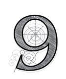 номер 9 Стоковое Изображение