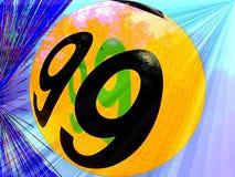 номер 99 шариков Стоковое Изображение RF