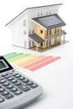 номинальность дома энергии эффективности стоковая фотография