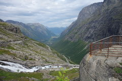 Норвегия - ландшафт горы Trollstigen Стоковая Фотография