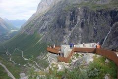 Норвегия - ландшафт горы Trollstigen стоковое изображение