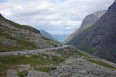 Норвегия - ландшафт горы Trollstigen Стоковые Фото