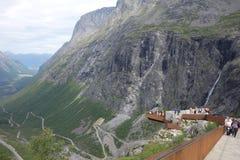 Норвегия - ландшафт горы Trollstigen Стоковое фото RF