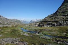 Норвегия - ландшафт горы Trollstigen Стоковые Фотографии RF