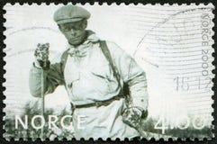 НОРВЕГИЯ - 1999: выставки лыжник, изображения серии обычной жизни Стоковое Изображение RF