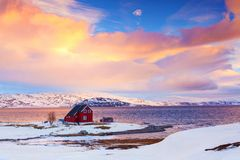 Норвегия в зиме стоковое фото rf