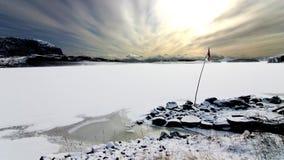 Норвегия замерли фьордом, котор Стоковое Изображение RF