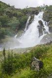 Норвегия - национальный парк Jostedalsbreen - водопад Стоковые Изображения RF