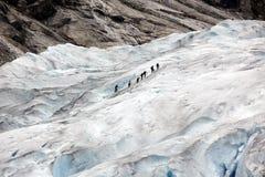 Норвегия, национальный парк Jostedalsbreen. Известное glac Briksdalsbreen Стоковые Фотографии RF