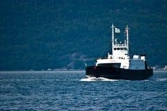 Норвегия Паром Jondal на фьорде Стоковая Фотография RF