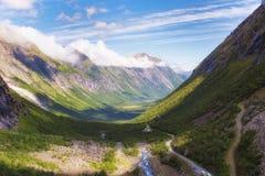 Норвегия Скандинавия Путешествия Дорога Trollstigen Стоковое Изображение