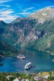 Норвегия, фьорд Geiranger Стоковое фото RF