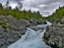 Норвеги-взгляд реки Otta Стоковые Фотографии RF