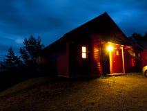 норвежец горы кабины Стоковое Изображение