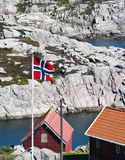 норвежец флага Стоковое фото RF