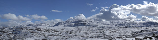 Норвежская гора зимы Стоковая Фотография RF