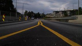 норвежская дорога Стоковые Фото