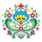 Норвежская картина Bunad народного искусства - вышивка стиля Rosemaling Стоковые Фото