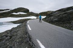 Норвежская сценарная трасса Aurlandsfjellet Стоковые Изображения