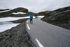 Норвежская сценарная трасса Aurlandsfjellet Стоковые Фотографии RF