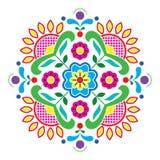 Норвежская традиционная картина Bunad народного искусства - вышивка стиля Rosemaling Стоковая Фотография RF