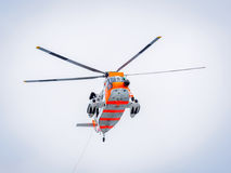 Норвежская тренировка спасения объявления поиска на море стоковые изображения