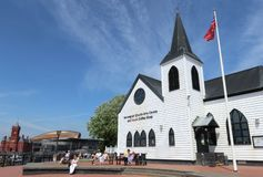 Норвежские искусства церков центризуют Кардифф Уэльс стоковая фотография