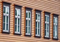 норвежские окна Стоковые Фотографии RF