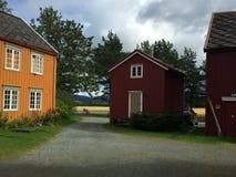 Норвежские дома фермы стоковые фотографии rf