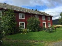 Норвежские дома фермы стоковое фото