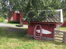 Норвежские дома фермы стоковые изображения