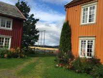 Норвежские дома фермы стоковые фото