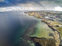 Норвежские фьорд и побережье, вид с воздуха Стоковые Фотографии RF