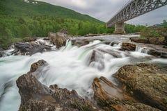 норвежский водопад Стоковая Фотография RF