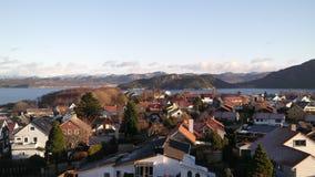 норвежский городок стоковое фото rf