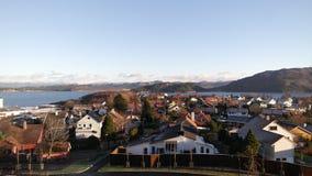 норвежский городок стоковые фотографии rf