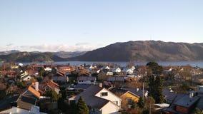 норвежский городок стоковое изображение rf