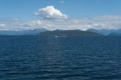 Норвежский ландшафт в голубых тонах Стоковая Фотография