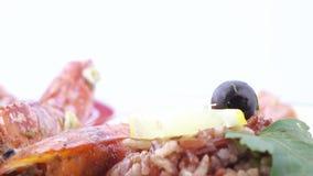 Норвежский омар с рисом видеоматериал