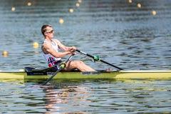 Норвежский спортсмен на rowing конкуренции чашки мира гребя Стоковые Фотографии RF