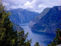 Норвежский фьорд Стоковые Изображения