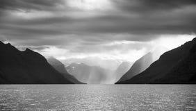 Норвежский фьорд Стоковая Фотография